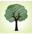 Hand drawn tree background vector