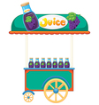 A juice cart vector