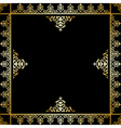 Black background with golden victorian ornament vector