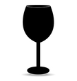 Wine glass isolated vector