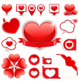 Design elements with hearts vector