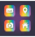 Rainbow web icons vector