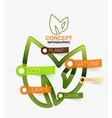 Eco leaves infographic concept vector