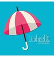 Umbrella design over blue background vector