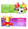 Soccer banners vector