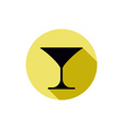 Classic martini glass alcohol and entertainment vector
