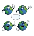 Smiling earth globe set vector