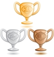 Three cups vector