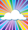 Colorful cloud and rainbow vector