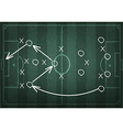 Soccer field with white lines on realistic vector