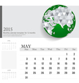 Simple 2015 calendar may vector