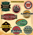 Retro label banner collection vector