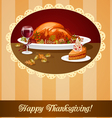Happy thanksgiving greeting vector