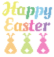Happy easter cross stitch pattern vector