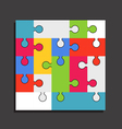 Abstract color puzzle template vector
