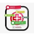 Medicine cross infographic concept vector