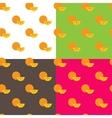 Flat orange fruits seamless pattern vector