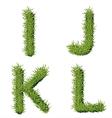 Green grass alphabet i j k l vector