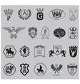 Heraldry shield set vector