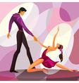 Couple dancers in romantic scene vector
