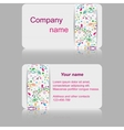 Light gray business card with abstract pattern vector