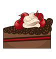 Chocolate cake slice vector