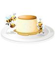 Custard and bees vector