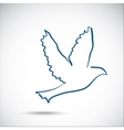 Dove on the gray background vector
