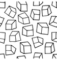 Seamless pattern with outline squares vector