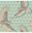 Seamless pattern with realistic flying owls in vector