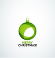 Merry christmas card - abstract ball bauble vector