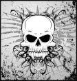 Grunge vampire skull vector