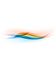 Abstract shape blue and orange wave vector