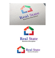 Real state logo template perview vector