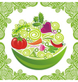 Organic food vegetable vector