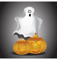 Ghost and pumpkins vector