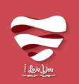 Valentines day heart flat on red background vector