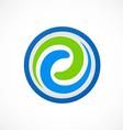 Swirl circular abstract logo vector