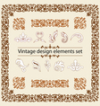 Vintage design elements set vector
