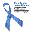 Blue denim jeans ribbon vector