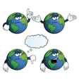Bored earth globe set vector