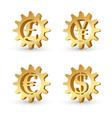 Money gears 3 vector