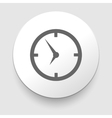Icon clock with shadow vector