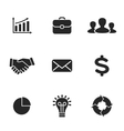 Collection of flat business icons vector