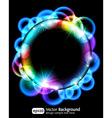 Neon light gradient effect vector