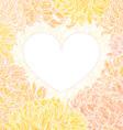 Romantic heart-frame vector