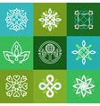 Abstract ecology symbols - outline emblems vector