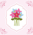 Flowers bouquet vector