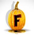 Halloween pumpkin f vector