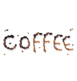 Coffee word of beans vector
